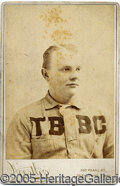 Miscellaneous, OLD BASEBALL CABINET CARD. Here we have a visually appealing ...