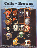 Miscellaneous, 1968 NFL CHAMPIONSHIP GAME PROGRAM, COLTS VS. BROWNS IN CLEVELAN...