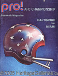 Miscellaneous, 1971 SEASON AFC CHAMPIONSHIP GAME PROGRAM. In the run up game...