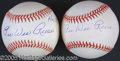Miscellaneous, PEE WEE REESE SIGNED BALLS. The autograph collector seeking utte...