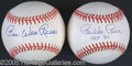 Miscellaneous, PEE WEE REESE AUTOGRAPHED BASEBALLS. Though by sanitized statist...
