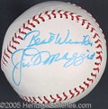 Miscellaneous, JOE D. AUTOGRAPHED BALL. In a somewhat unconventional method, Jo...