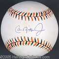 Miscellaneous, RIPKEN SIGNED ALL-STAR BALL. With the recent unveiling of the be...