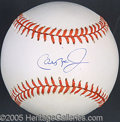 Miscellaneous, CAL RIPKEN, JR. SIGNED BALL. With no frills or qualifications, t...