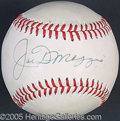 Miscellaneous, JOE DIMAGGIO SIGNED BASEBALL. For the collector who doesn't dema...
