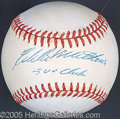 Miscellaneous, EDDIE MATHEWS SIGNED BALL. He labored a career in the shadow of ...