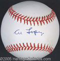 Miscellaneous, AL LOPEZ SINGLE SIGNED BALL. His 37 yearsof major league s...