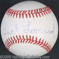 Miscellaneous, BUCK LEONARD SIGNED BALL. Through 17 seasons Buck Leonard p...