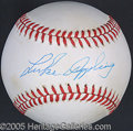 Miscellaneous, LUKE APPLING SINGLE SIGNED BALL. Ol' 'Aches and Pains' mustered ...