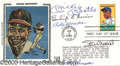 Miscellaneous, FIRST DAY COVER AUTOGRAPHED BY MANTLE, MUSIAL, GRIMES, HERMAN,&...