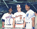 Miscellaneous, 8 X 10 AUTOGRAPHED PHOTO OF RIPKEN, WINFIELD, AND RICE. Beaut...