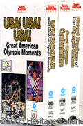 Miscellaneous, OLYMPICS LOT CONSISTING OF 1984 SILVER DOLLAR, 1984 PIN AND 3 VI...