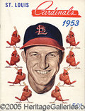 Miscellaneous, 1953 ST. LOUIS CARDINALS BASEBALL YEARBOOK. This extremely at...
