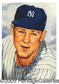 Miscellaneous, FORD AND FELLED SIGNED 1953 TOPPS ARTWORK LITHOS. Made from t...