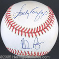 Miscellaneous, KOUFAX/RYAN/FELLER SIGNED BALL. This is a beautifully autogra...