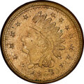 1863 United States Medal Civil War Token, Fuld-92/199 do, Struck over an 1863 Indian Cent, R.9 MS64 NGC. Ex: Donald G. P...