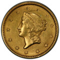 Gold Dollars, 1849 G$1 Closed Wreath MS63 PCGS. PCGS Population: (76/88). NGC Census: (59/120). CDN: $810 Whsle. Bid for NGC/PCGS MS63. ...