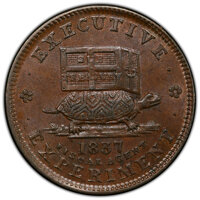 1837 Token Copper, Illustrious Predecessor, Low-19, HT-33, DeWitt-CE-1838-3,R.1. MS63 Brown PCGS. PCGS Population: (5/5...