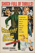 """Movie Posters:Horror, Creature with the Atom Brain (Columbia, 1955). Folded, Fine/Very Fine. One Sheet (27"""" X 41""""). Horror.. ..."""