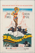 """Movie Posters:Musical, 3 Sailors and a Girl (Warner Bros., 1953). Folded, Very Fine-. One Sheet (27"""" X 41""""). Musical.. ..."""