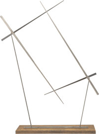 George Rickey (1907-2002) Quadrilateral Theme with Four Lines, 1976 Stainless steel sculpture with w