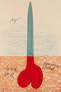 Claes Oldenburg (b. 1929) Scissors as Monument, 1968 Lithograph in colors on wove paper 30 x 20 i
