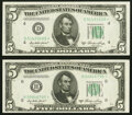 Fr. 1962-D*; H* $5 1950A Federal Reserve Star Notes. Choice Crisp Uncirculated. ... (Total: 2 notes)