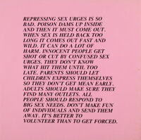 Jenny Holzer (b. 1950) Inflammatory Essays (28 works), 1979-82 Offset lithographs on colored paper