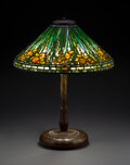 Glass, Tiffany Studios Leaded Glass and Patinated Bronze Daffodil Table Lamp, circa 1910. Marks to shade: TIFFANY S... (Total: 2 Items)
