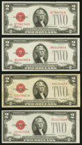 Fr. 1504 $2 1928C Legal Tender Notes. B-A Block. Two Examples. About Uncirculated or Better; Fr. 1504 $2 1928C Legal Ten...
