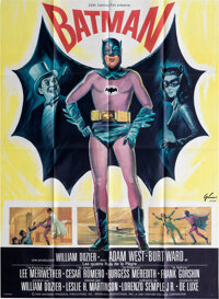 Batman (20th Century Fox, 1966). Pliée, Proche du Neuf/Neuf & Lee Meriwether Print Original Signé...