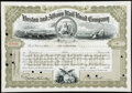 Six Massachusetts Stocks and Bond Certificates. Very Fine or Better. ... (Total: 6 items)