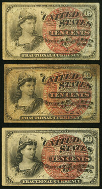 Fr. 1258 10¢ Fourth Issue (2) Fine; Fr. 1261 10¢ Fourth Issue Very Fine