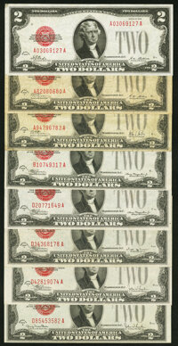 Eight $2 Legal Tender Notes from the 1928, 1928A, 1928B, 1928C, 1928D, 1928E, 1928F, and 1928G Series. Fine or Better...