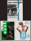Basketball Collectibles:Publications, 1972-87 Billy Cunningham (ABA) & George Gervin Signed Publications Lot of 3....