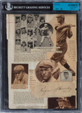 Autographs:Others, Signed Rogers Hornsby Cut & Collage with Billy Sunday Articles on Back....
