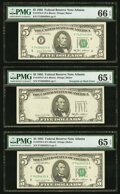 "Third Printing on Back Error with ""Bookend"" Notes. Fr. 1978-F $5 1985 Federal Reserve Notes. PMG Graded Gem Un..."