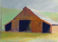 Paintings, Wolf Kahn (American, 1927-2020). Tennessee Horse Barn, 1982. Oil on canvas. 26 x 36 inches (66.0 x 91.4 cm). Dated and t...