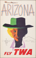 """Movie Posters:Miscellaneous, Arizona: Fly TWA (Trans World Airlines, c.1950s). Rolled, Very Fine. Travel Poster (25"""" X 40"""") Austin Briggs Artwork. Miscel..."""