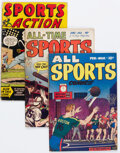 Golden Age (1938-1955):Miscellaneous, Golden Age Sports Comics Group of 7 (Various Publishers, 1940s-50s) Condition: Average VG.... (Total: 7 Comic Books)