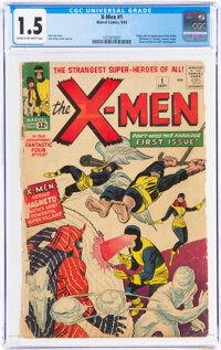 X-Men #1 (Marvel, 1963) CGC FR/GD 1.5 Cream to off-white pages