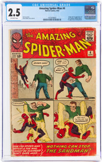 The Amazing Spider-Man #4 (Marvel, 1963) CGC GD+ 2.5 Off-white pages