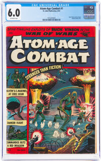 Atom-Age Combat #1 (St. John, 1952) CGC FN 6.0 Off-white pages