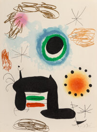 Joan Miró (1893-1983) La Ralentie, 1969 Etching and aquatint with carborundum printed in colors on A