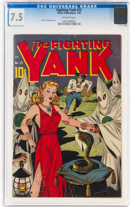 Fighting Yank #23 (Nedor Publications, 1948) CGC VF- 7.5 Off-white pages....