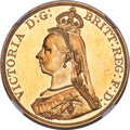 Australia: Victoria gold Proof 5 Pounds 1887-S PR64 Cameo NGC