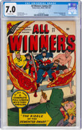Golden Age (1938-1955):Superhero, All Winners Comics #21 (Timely, 1947) CGC FN/VF 7.0 Off-white pages....