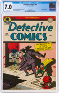 Golden Age (1938-1955):Superhero, Detective Comics #91 (DC, 1944) CGC FN/VF 7.0 Off-white pages....