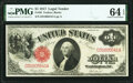 Fr. 36 $1 1917 Legal Tender PMG Choice Uncirculated 64 EPQ