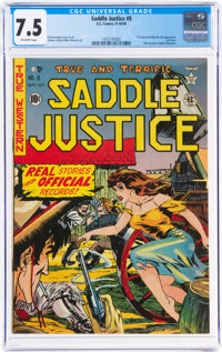 Saddle Justice #8 (EC, 1949) CGC VF- 7.5 Off-white pages